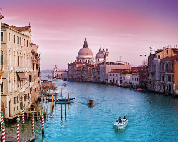 Horizontal Poster featuring the photograph Venice Canale Grande Italy by Dominic Kamp Photography