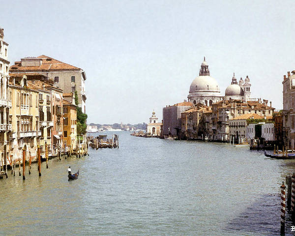 Venice Poster featuring the digital art Venice Grand Canal by Al Blackford