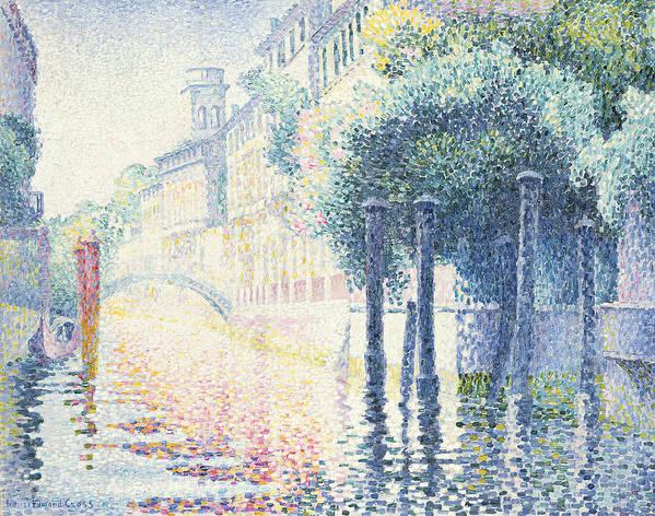 Rio San Trovaso Poster featuring the painting Venice by Henri-Edmond Cross