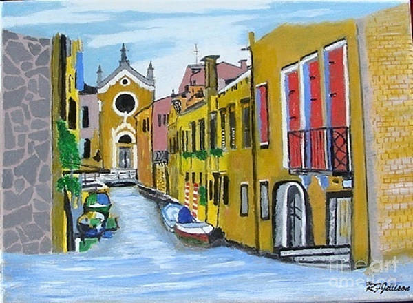 Venice Poster featuring the painting Venice In September by Rod Jellison