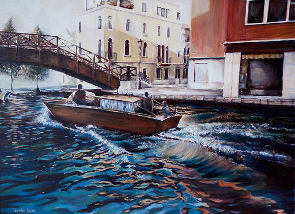 Venice Poster featuring the painting Venice by Jennifer Lycke