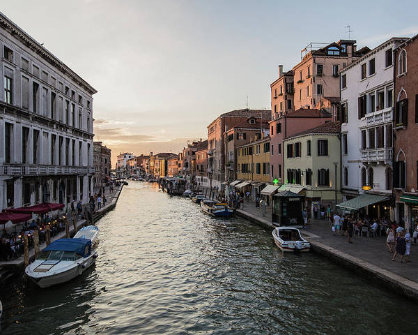 Boats Poster featuring the photograph Venice by Joseph Hawk
