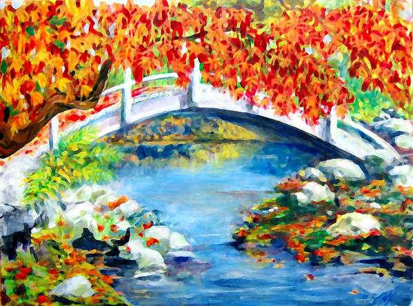Painting Poster featuring the photograph Vermont Bridge by Lyn Vic