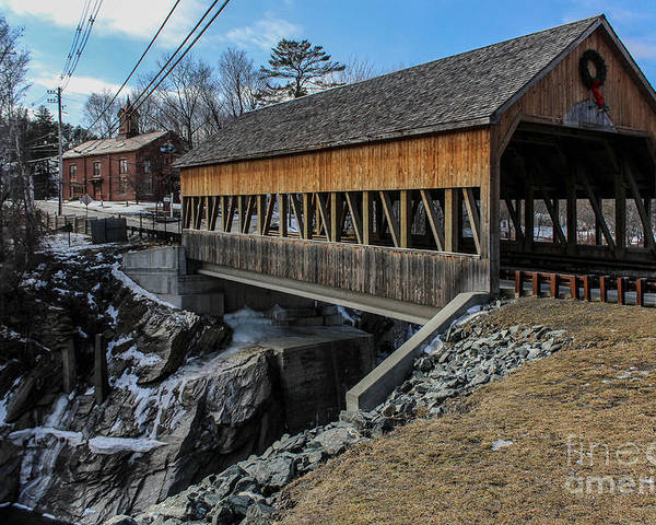 New England Poster featuring the photograph Vermont Covered Bridge by Joe Faragalli