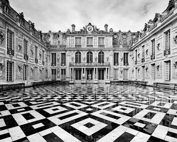 Versailles Architecture Poster featuring the photograph Versailles Architecture Paris by Pierre Leclerc Photography