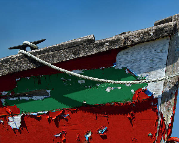 Abstract Poster featuring the photograph Veteran Rowboat by Murray Bloom