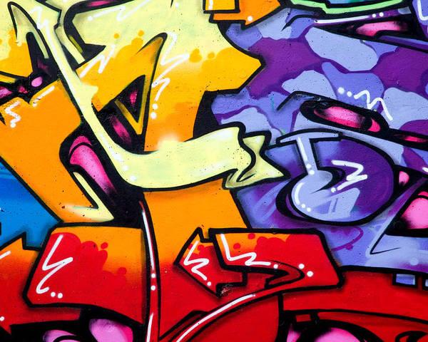 Graffiti Poster featuring the photograph Vibrant Graffiti by Richard Thomas