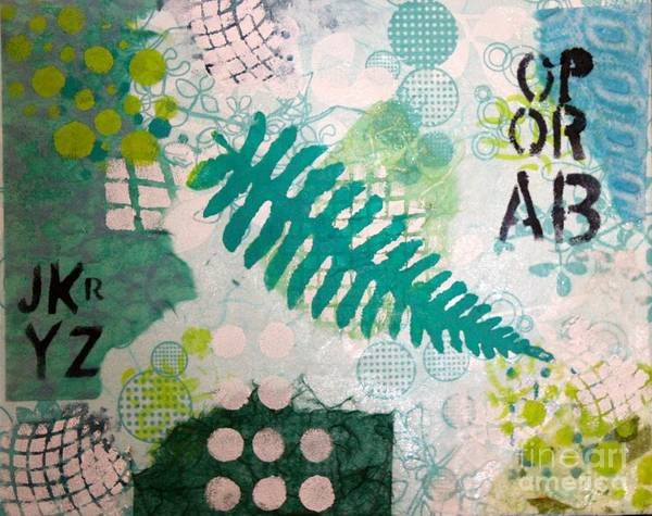 Poster featuring the mixed media Vibrant Meadow Fern by Dawn Wenzl