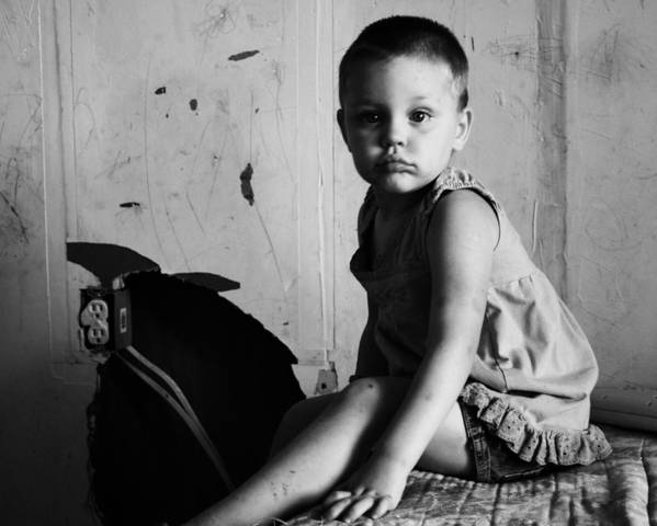 Poverty Poster featuring the photograph Victim Of Circumstance by Dana Oliver