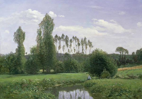 View At Rouelles Poster featuring the painting View At Rouelles by Claude Monet