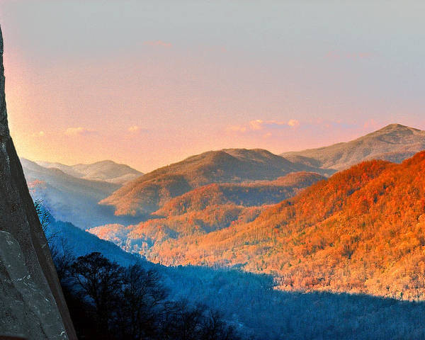 Landscape Poster featuring the photograph View From Chimney Rock-north Carolina by Steve Karol