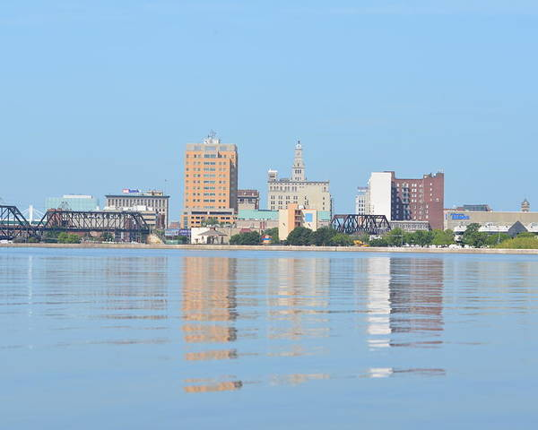 Downtown Davenport Poster featuring the photograph View From The East by Tammy Mutka