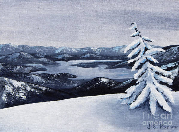 Snow Poster featuring the painting View From The Top by Jordan Parker