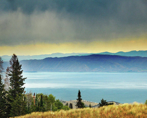 Horizontal Poster featuring the photograph View Of Bear Lake by Utah-based Photographer Ryan Houston