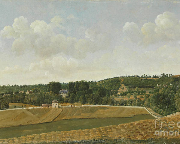 Achille-etna Michallon (1796�1822) View Of Chatenay Poster featuring the painting View Of Chatenay by Celestial Images