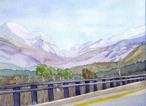 Franconia Notch Poster featuring the painting View Of Franconia Notch by Sharon E Allen
