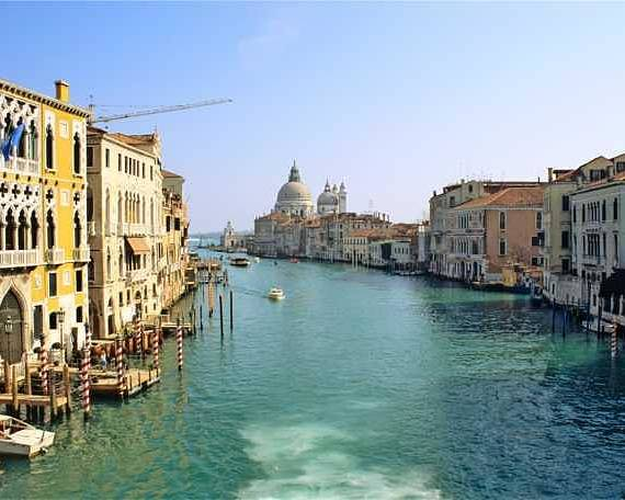 Venice Poster featuring the photograph View Of Grand Canal In Venice From Accadamia Bridge by Michael Henderson