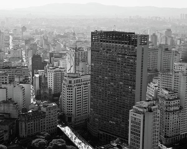 Horizontal Poster featuring the photograph View Of Sao Paulo by Jacobo Zanella