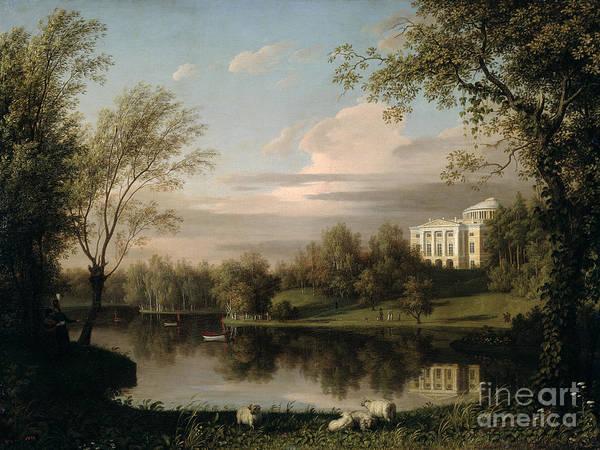 View Of The Pavlovsk Palace Poster featuring the painting View Of The Pavlovsk Palace by Carl Ferdinand von Kugelgen