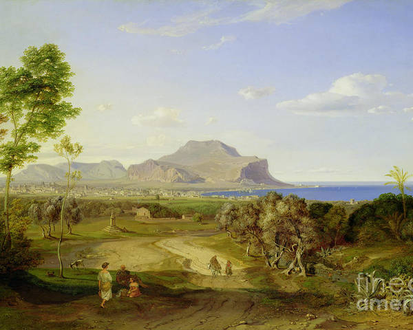 View Poster featuring the painting View Over Palermo by Carl Rottmann