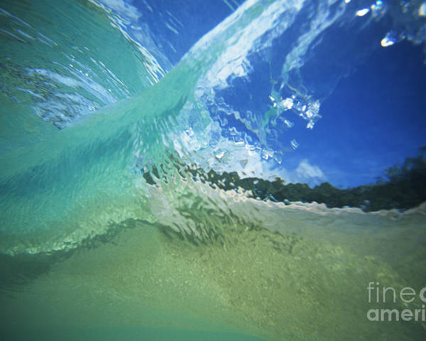 Abstract Poster featuring the photograph View Through Wave by Vince Cavataio - Printscapes