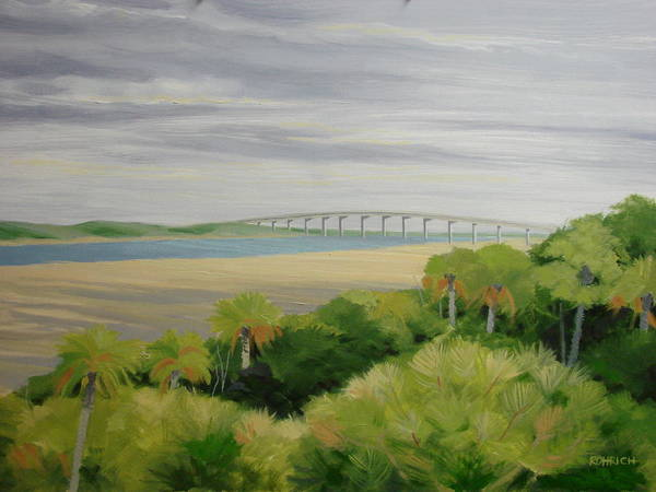 Landscape Poster featuring the painting Vilano Bridge by Robert Rohrich