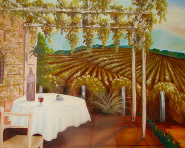 Vineyard Poster featuring the painting Vineyard II by Karen R Scoville