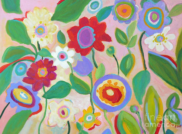Vintage Style Poster featuring the painting Vintage Garden by Karen Fields