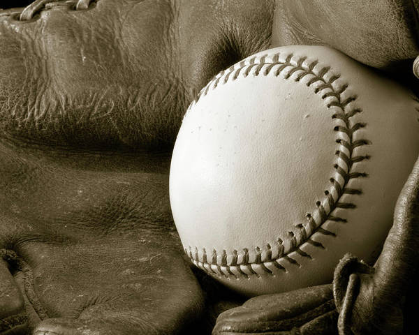 Baseball Poster featuring the photograph Vintage Glove by Shawn Wood