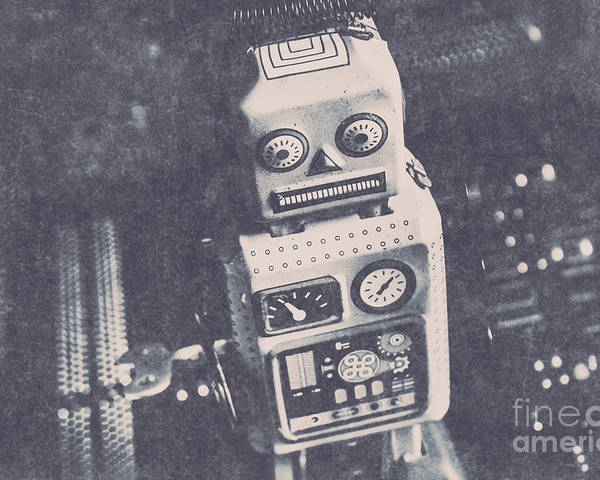 Old Poster featuring the photograph Vintage Robot Toy by Jorgo Photography - Wall Art Gallery