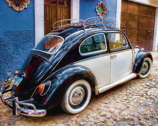 Vintage Vw Bug In Mexico Poster By Carol Leigh