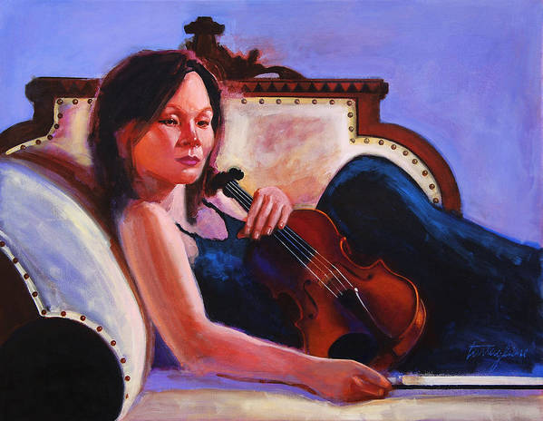 Portrait Poster featuring the painting Violino by John Tartaglione