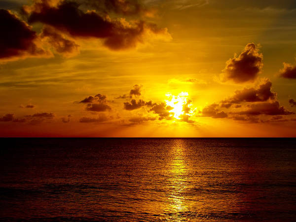 Sunset Poster featuring the photograph Virgin Islands Sunset by Linda Morland