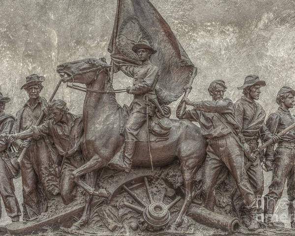 State Of Virginia Monument Gettysburg Poster featuring the digital art Virginia Monument Gettysburg Battlefield by Randy Steele