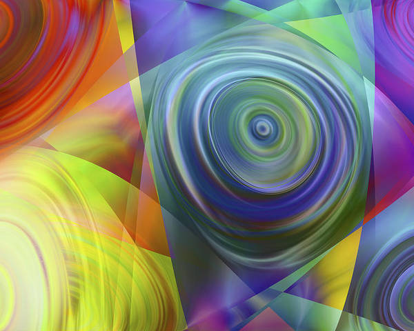 Colors Poster featuring the digital art Vision 39 by Jacques Raffin