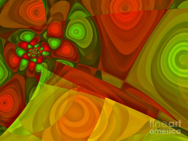 Fractal Poster featuring the digital art Vision Of Joy by Jutta Maria Pusl