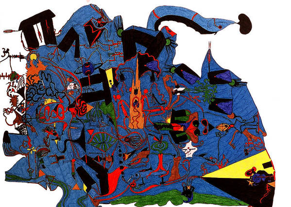 Abstract Poster featuring the print Vision Quest by William Watson