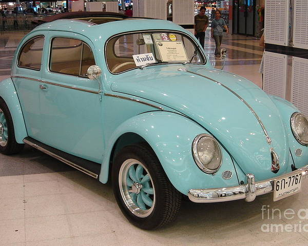 Vintage Poster featuring the photograph Vw Beetle by Mike Holloway