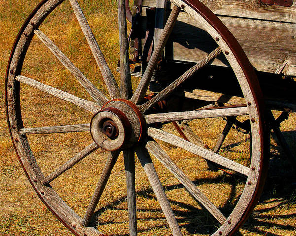 Wagon Poster featuring the photograph Wagon Wheel by Perry Webster