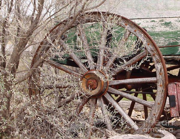 Wagon Poster featuring the photograph Wagon Wheel by Robert Frederick