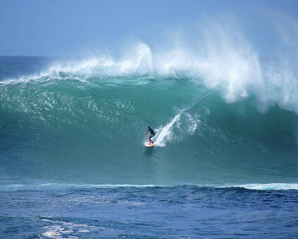 Hawaii Poster featuring the photograph Waimea Bay Boomer by Kevin Smith