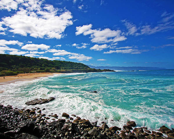 North Shore Poster featuring the photograph Waimea Bay by Ty Helbach