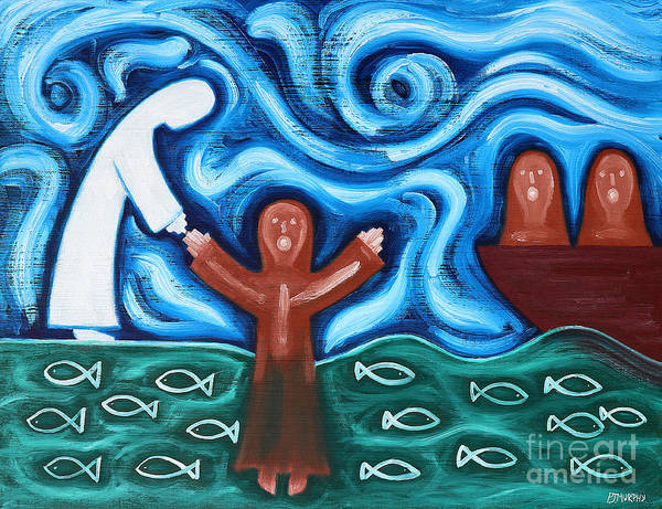 Easter Poster featuring the painting Walking On Water 2 by Patrick J Murphy