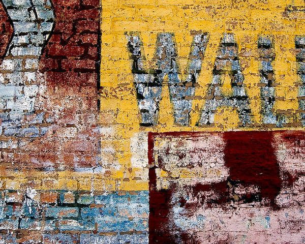Brick Wall Poster featuring the photograph Wall by Curtis Staiger