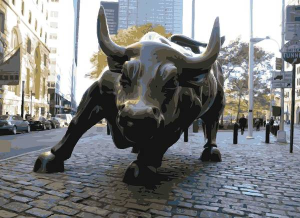 Wall Street Bull Poster featuring the photograph Wall Street Bull Color 16 by Scott Kelley