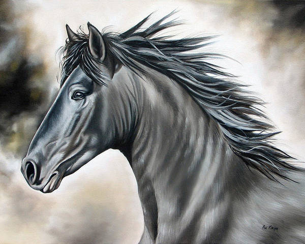 Horse Poster featuring the painting Wanapun by Ilse Kleyn