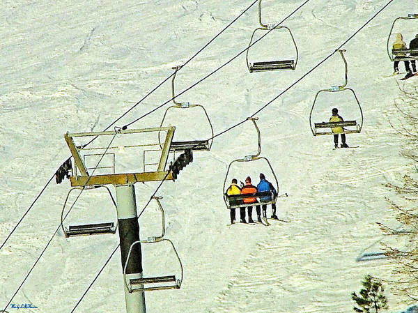 Ski Lift Canvas Prints Poster featuring the photograph Wanna Lift by Wendy McKennon