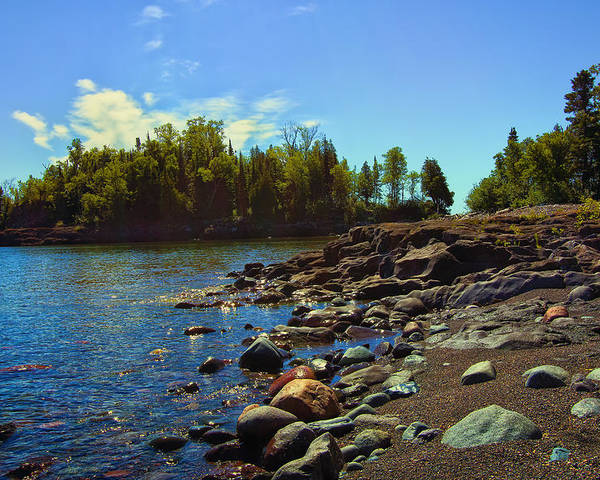 Sugarloaf Cove Minnesota Poster featuring the photograph Warmth Of Sugarloaf Cove by Bill Tiepelman