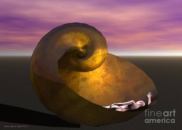 Bryce Poster featuring the digital art Washed Ashore by Sandra Bauser Digital Art