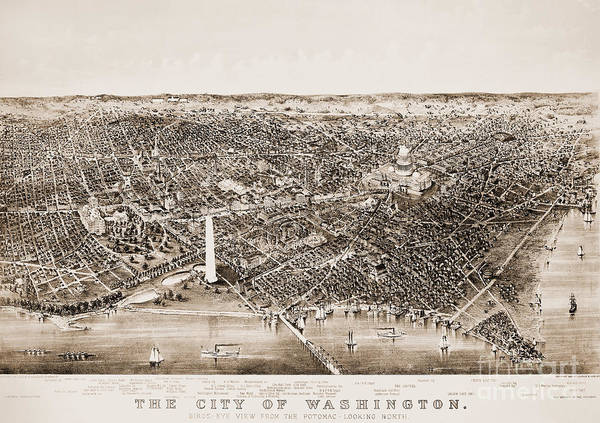 1892 Poster featuring the photograph Washington D.c., 1892 by Granger